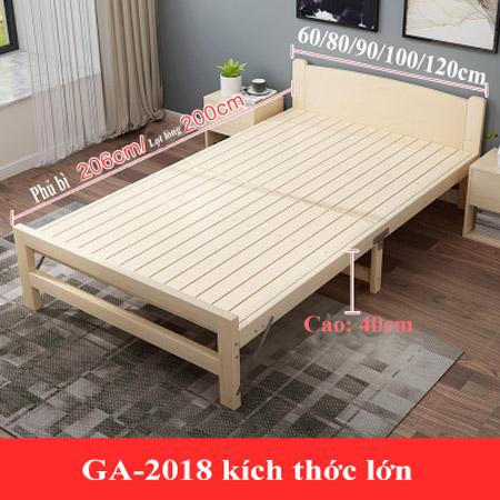 giường gỗ gấp xếp gọn