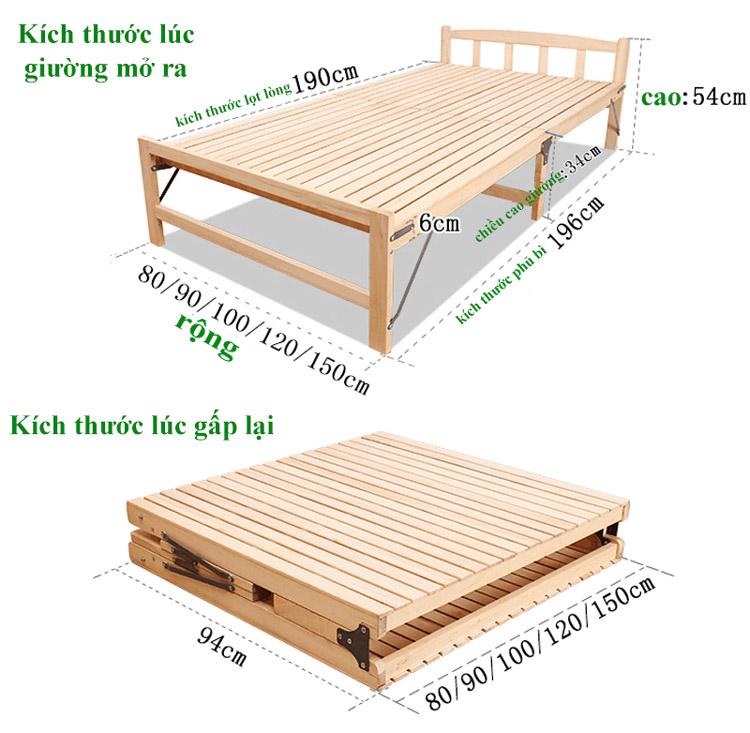 giường gấp 1m2