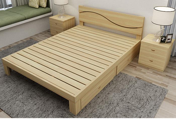 Giường gỗ với ngăn kéo đa năng đẹp GA1037