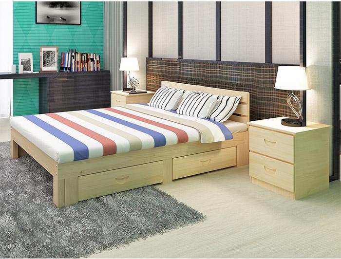 giường gỗ ngăn kéo đa năng