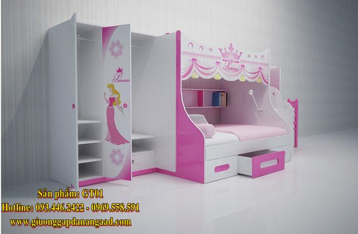Giường 2 tầng dành cho trẻ em GT01