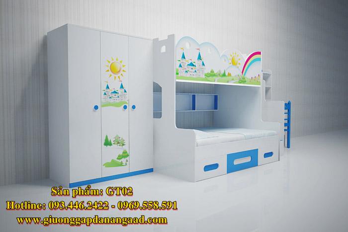 Giường tầng lâu đài cho trẻ em GT02