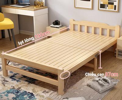 Giường ngủ gấp tiết kiệm không gian GA-2018 cao 37cm