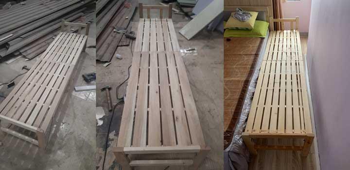 giường gỗ gấp nhỏ