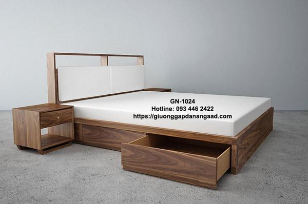 Giường gỗ 1m2 có 2 ngăn kéo
