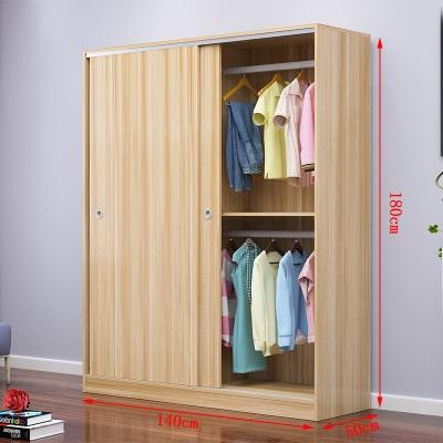 Tủ quần áo cánh trượt lùa lắp cho phòng ngủ căn hộ nhỏ
