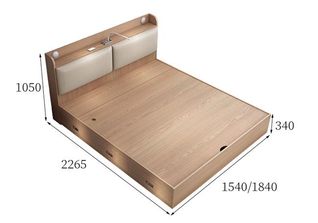 giường ngủ có ngăn kéo GN947