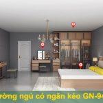 Giường gỗ có ngăn kéo lưu trữ GN-1024