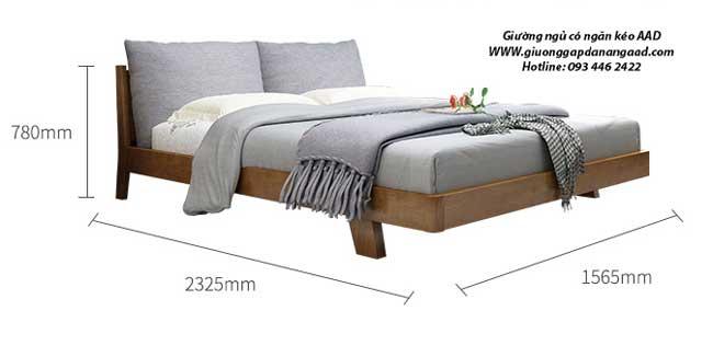 Kích thước giường ngủ có ngăn kéo