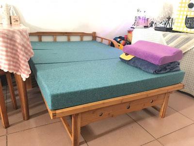 ảnh thực tế khách hàng gửi ghế giường gấp thông minh