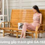 Giường gấp thành ghế bằng tre giá rẻ GA-1026