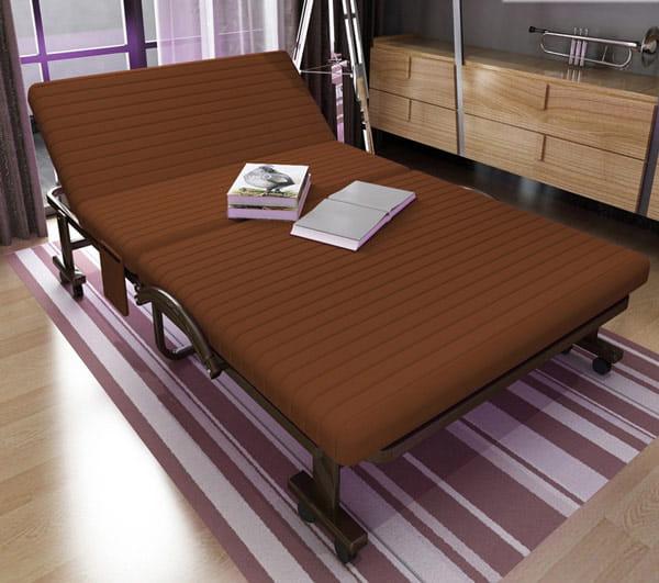 Giường gấp Hàn Quốc màu nâu