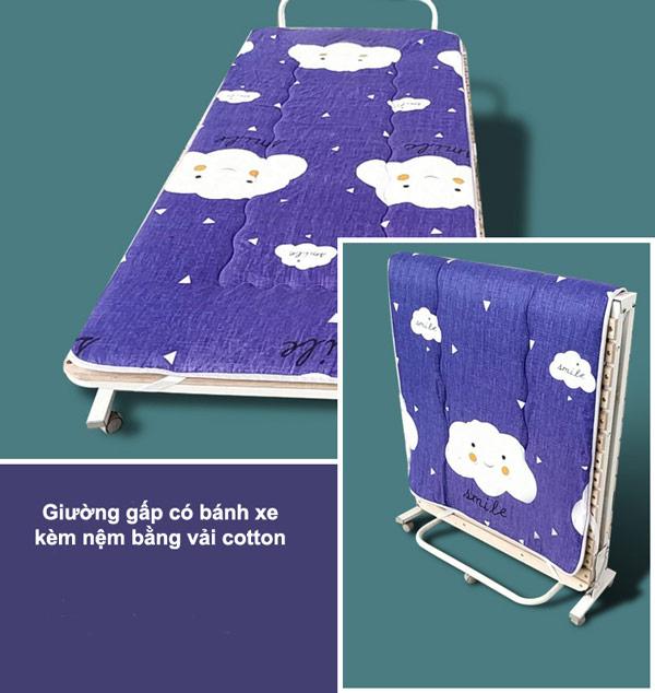 giuong-gap-banh-xe-kem-nem-vai-cotton