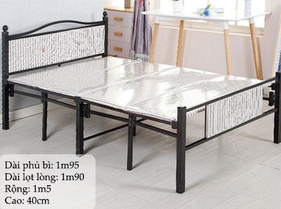 giường sắt gấp 1m5