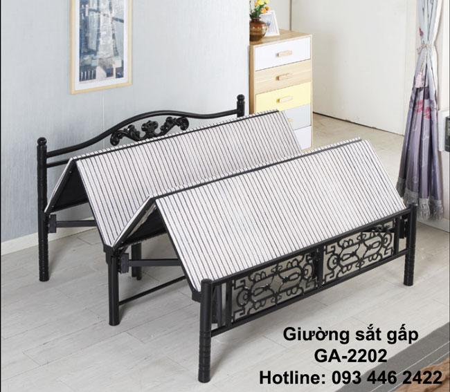 giường sắt gấp GA-2202