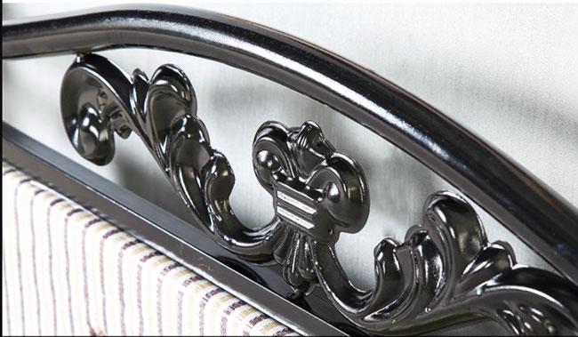 họa tiết trang trí đầu giường sắt