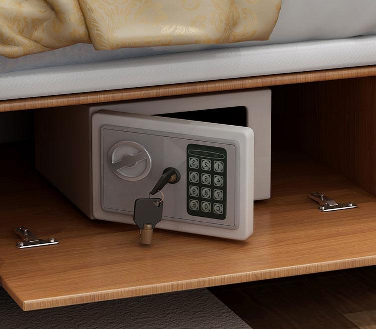 ngăn kéo để két dưới giường