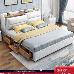 Giường da hiện đại GA-C032 giường đôi 1,8m