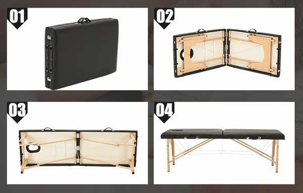 các bước mở giường vali