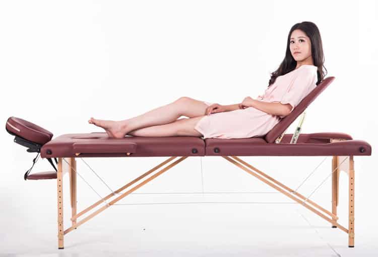 giường gấp vali chân gỗ