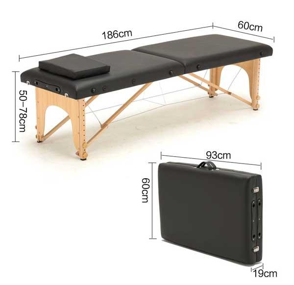 kích thước giường gấp vali