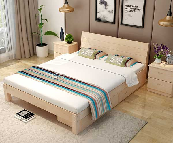 giường đơn 1m2 đẹp
