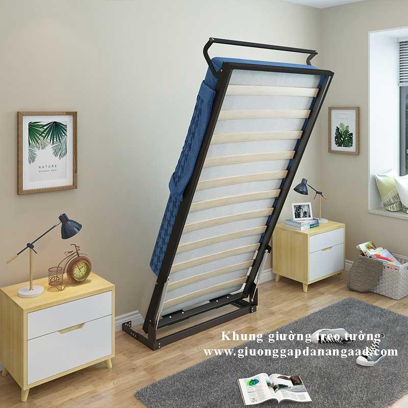 Bộ khung giường âm tường thông minh