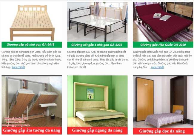 các mẫu giường thông minh