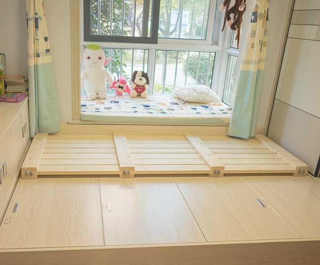 dát giường gỗ gấp đôi dạng phản