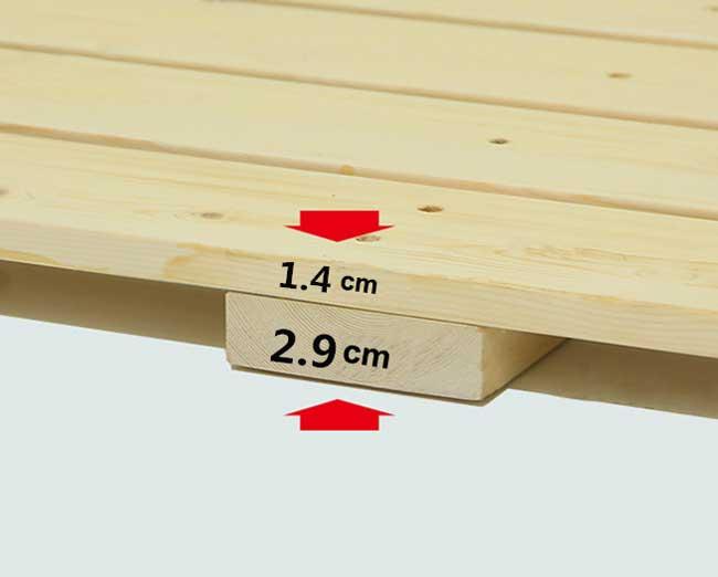độ dày của dát giường gấp