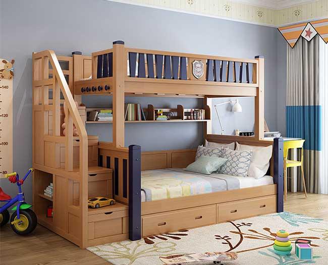 giường hai tầng cho người lớn có hộc ngăn kéo