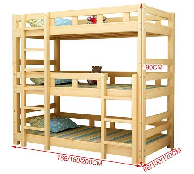 kích thước giường 3 tầng