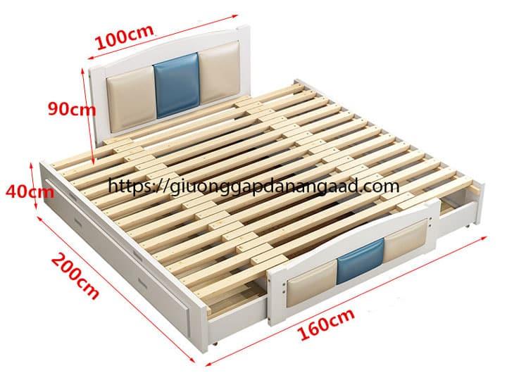 Giường pallet kích thước 1m6 x 2m