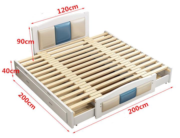Giường ngủ pallet kích thước 2m x 2m