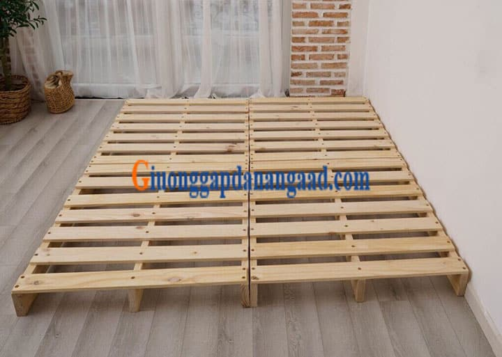 giường ngủ gỗ pallet giá rẻ