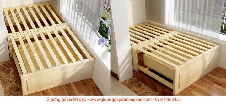 giường ngủ pallet có ngăn kéo