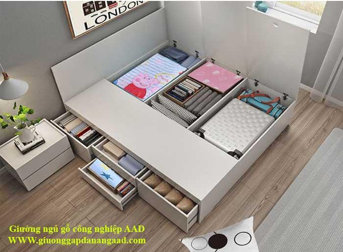 Giường ngủ gỗ công nghiệp hiện đại