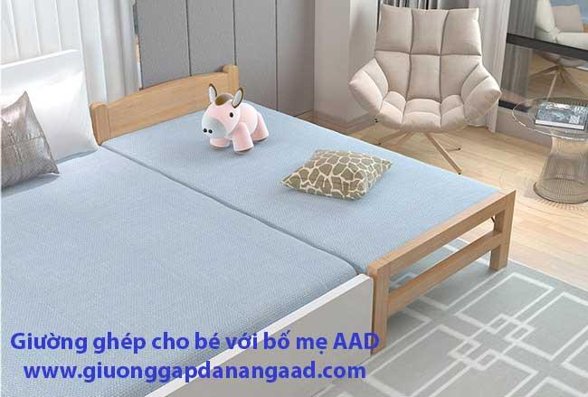 Giường gỗ gấp kê sát giường bố mẹ GA-2018