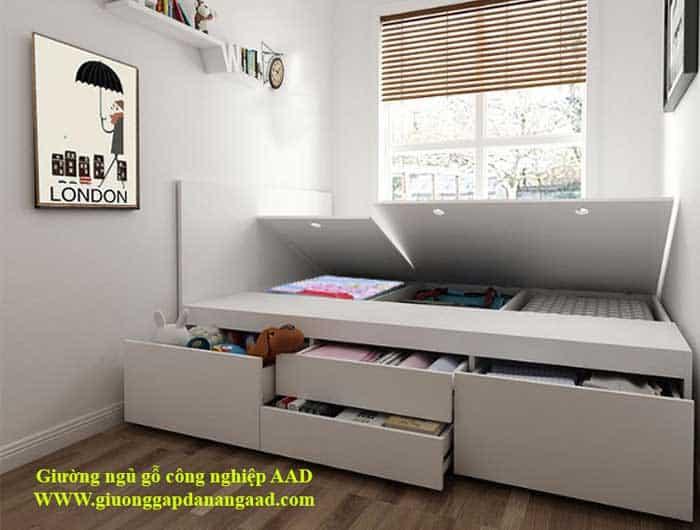 Giường hiện đại bằng gỗ công nghiệp