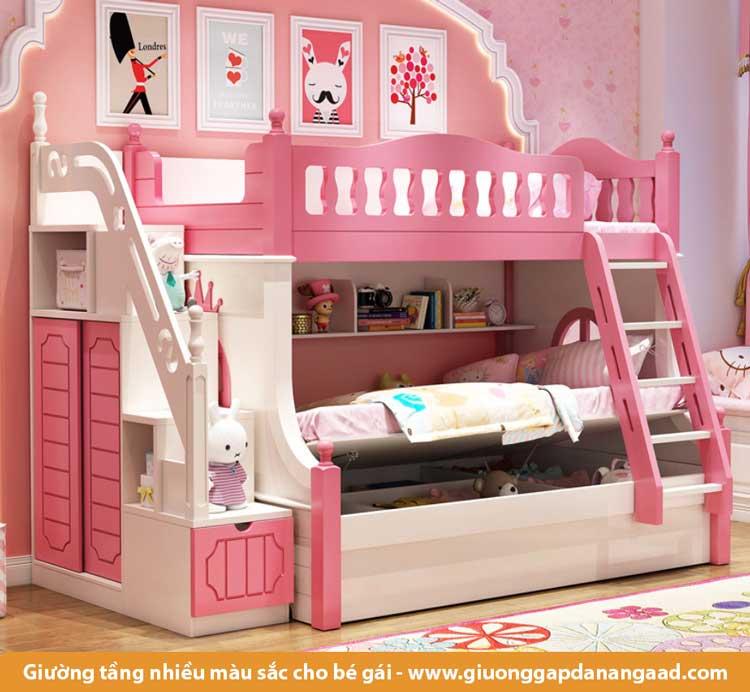Giường tầng đầy màu sắc cho bé gái xinh xắn