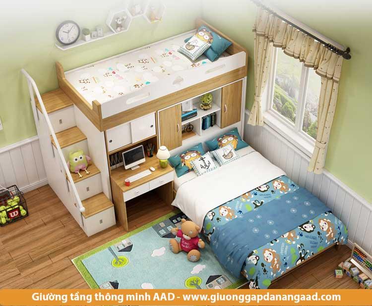 Giường tầng thông minh dành cho phòng hẹp 12m2