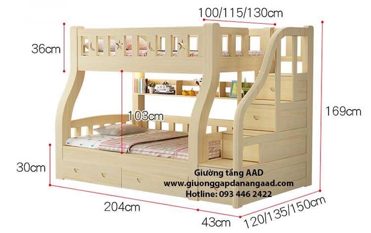 kích thước giường tầng trẻ em