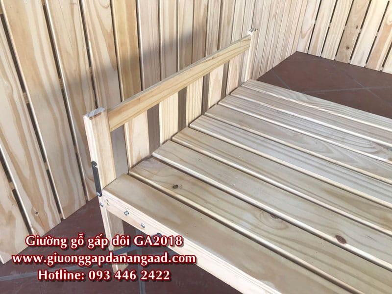 Giường gỗ gấp gọn 80cm