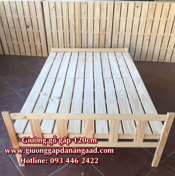 giường gỗ 1m2 x 2m