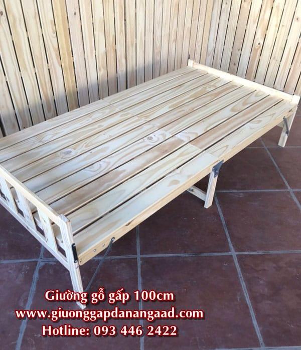 giường gấp gỗ 1m
