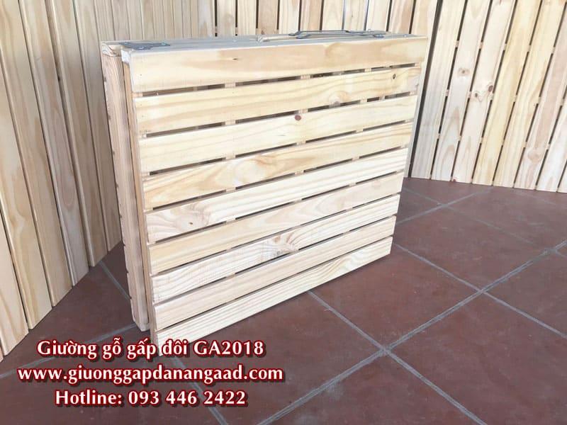 Giường gỗ 80cm khi ở trạng thái gấp gọn