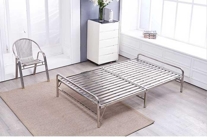 giường gấp thép không gỉ