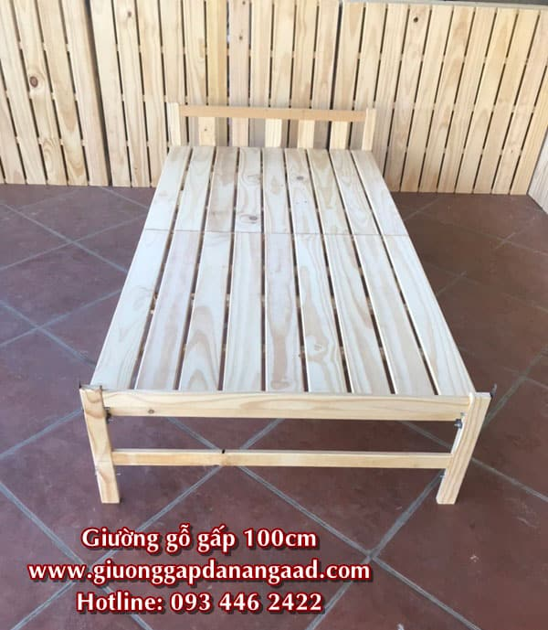 giường gỗ gấp 100cm