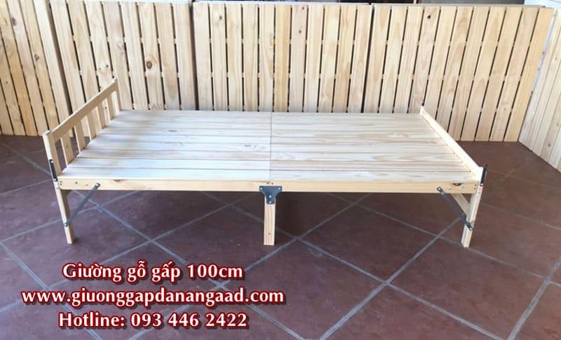 giường gỗ gấp 1m