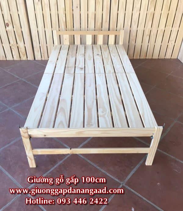giường gỗ gấp rộng 1m